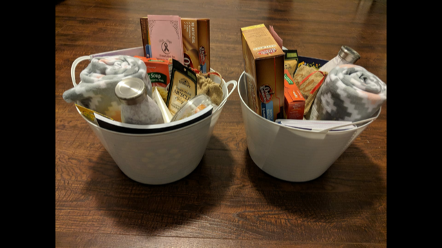 Chemo baskets created by Mandy Conklin