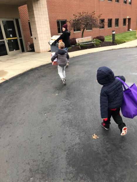 snack delivery carried by Mandy, Jace and Cooper